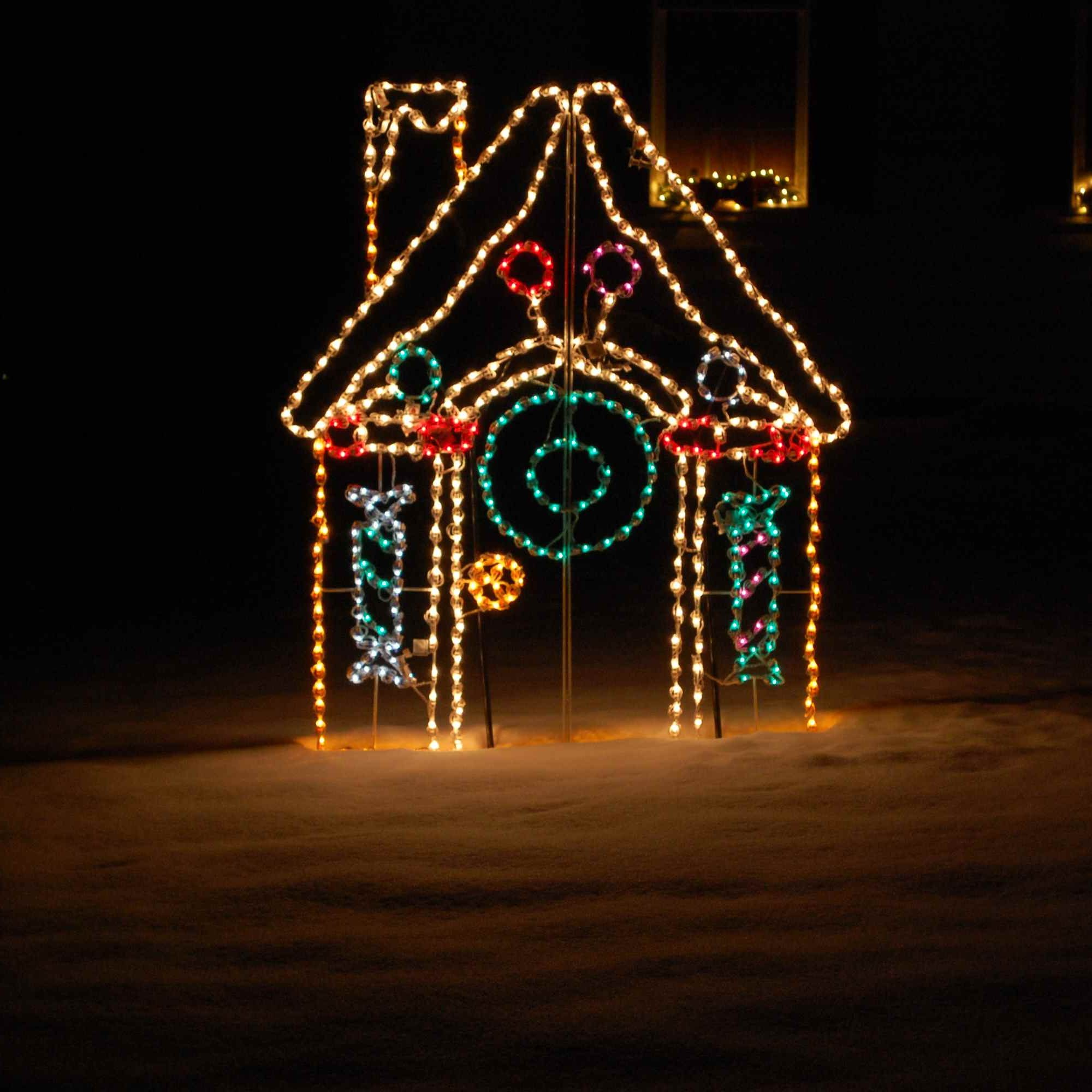 Holiday Light Decoration of House