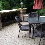 Table, Chairs on Cobblestone