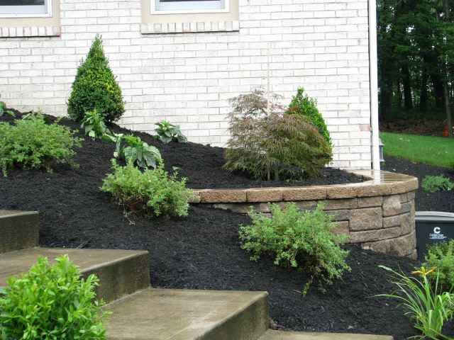 Garden with Mulch and Steps