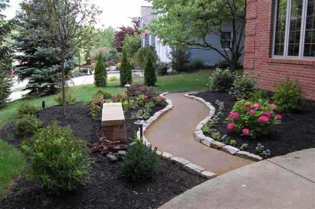 Garden with Curved Pathway