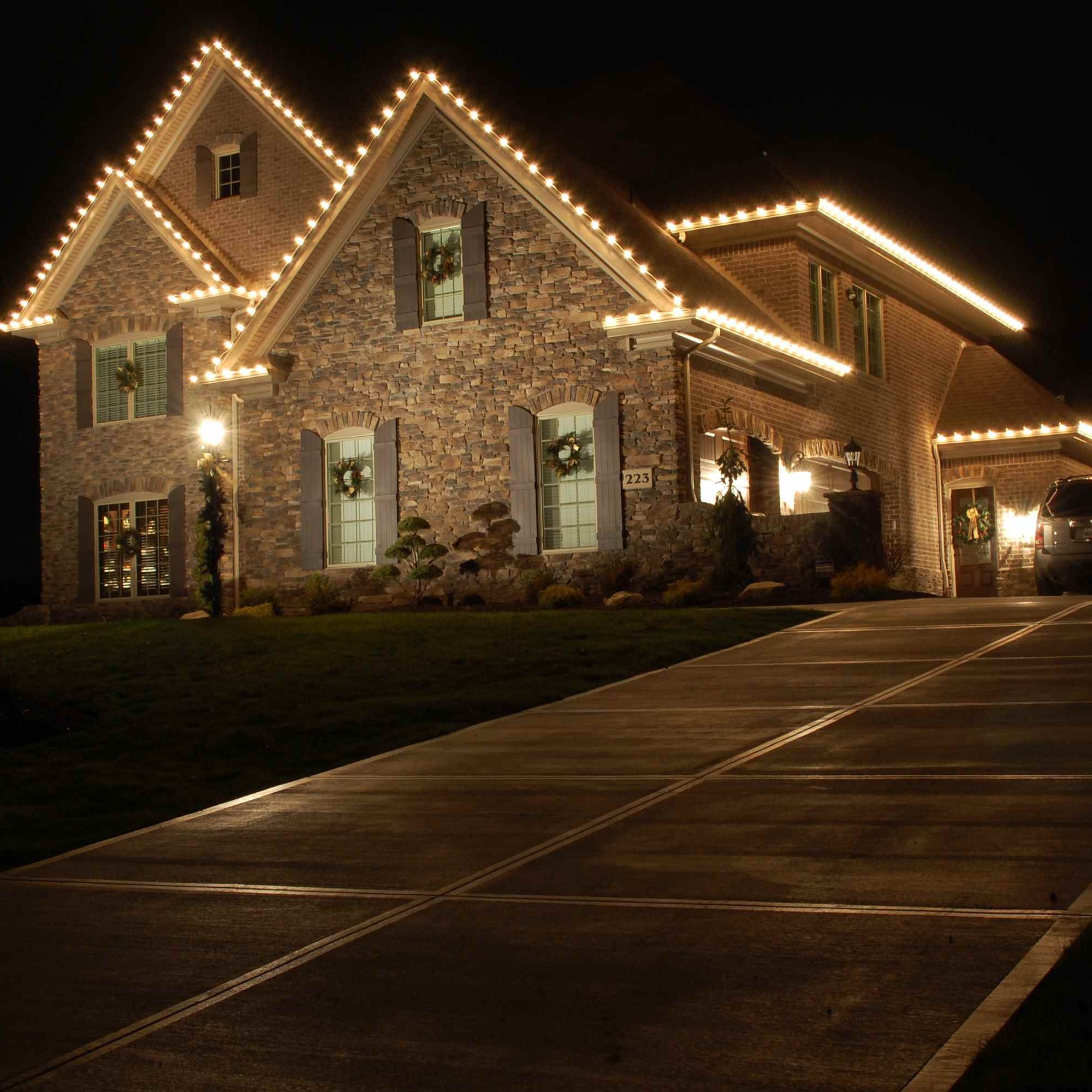 House With Lights for the Holidays